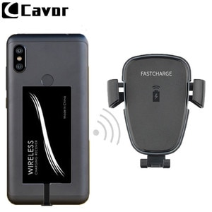 Car Mount Phone Holder Qi Wireless Fast Charger For Xiaomi Redmi Note 6 Pro 6A 5A 3 S 4 4X 5 S2 Case Wireless Charging Chargeur