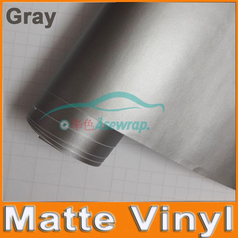 30M mucho envío gratis alta calidad gris mate vinilo envoltura de coche película adhesiva de coche con liberación de aire burbuja BW-9003 gratis