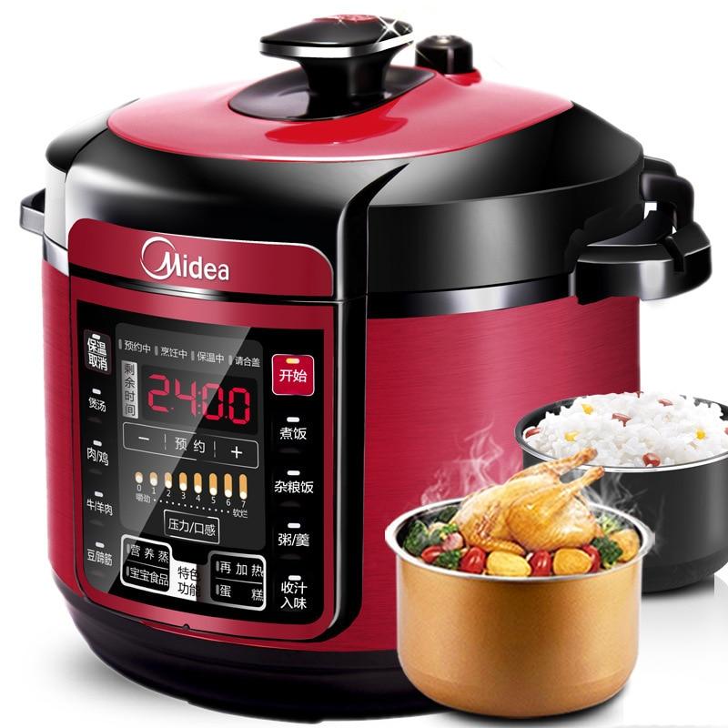 5LMidea MY-QC50A5 Electric Pressure Cooker Pot Microcomputer Double Bile 5L Smart Home High Pressure Pot Rice Cooker Slow Cooker