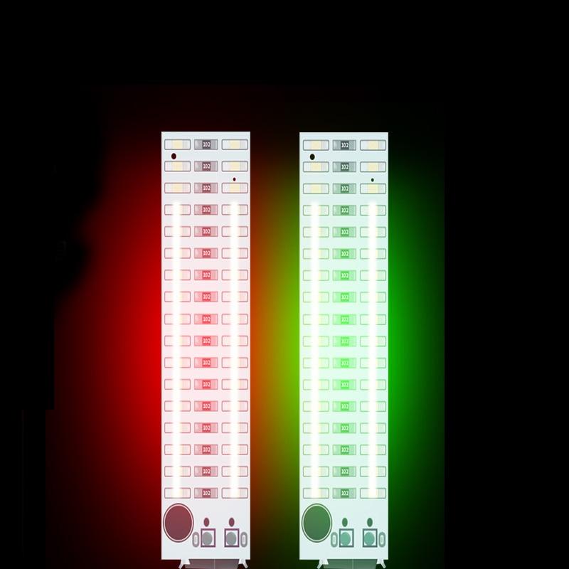 2X17 LED USB Мини Голосовое управление аудио USB музыка спектр света Вспышка уровень громкости Светодиодный индикатор для MP3 усилителя