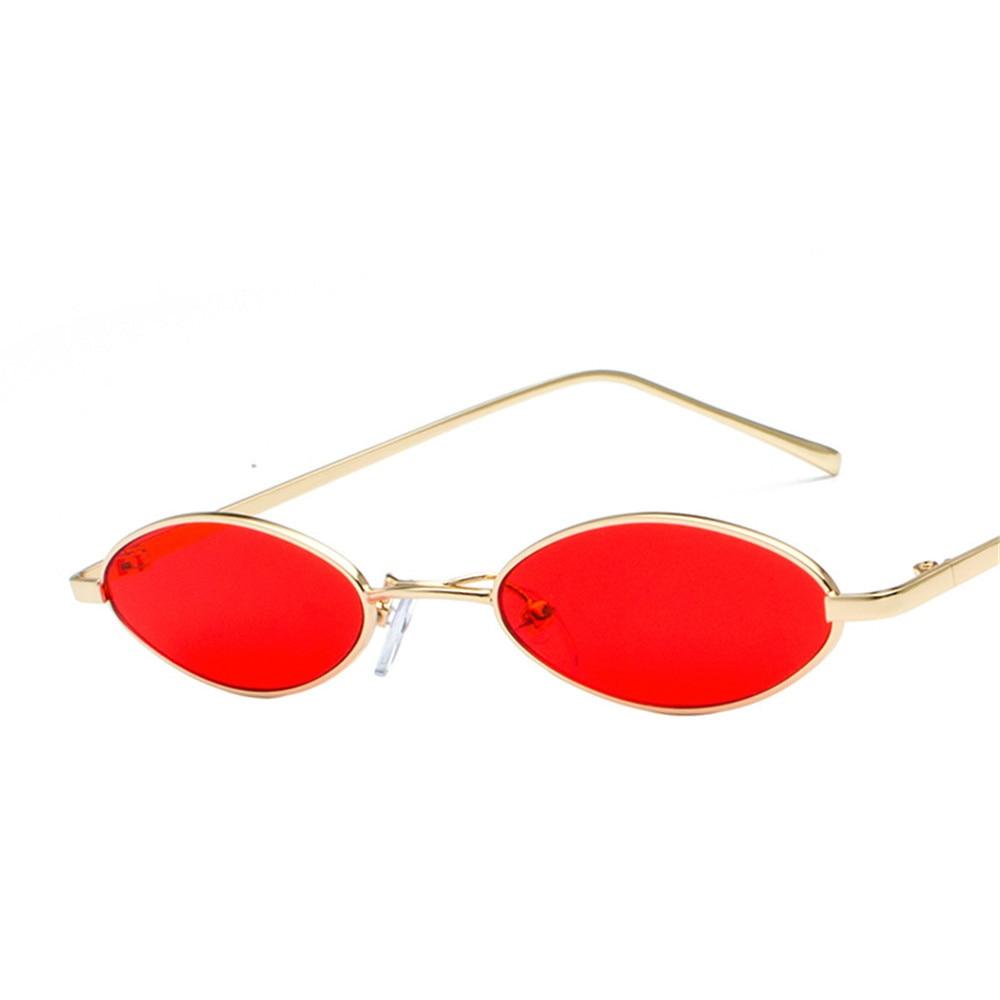 ZXRCYYL  Sunglasses Women Luxury Brand Designer vintage 2018 new retro color small ellipse sunglasses fashion designer unisex