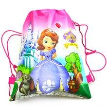 1pcs High Quality Sofia Cotton Drawstring Bags Kid Favor Travel Pouch Storage Clothes Shoes Bag Scho