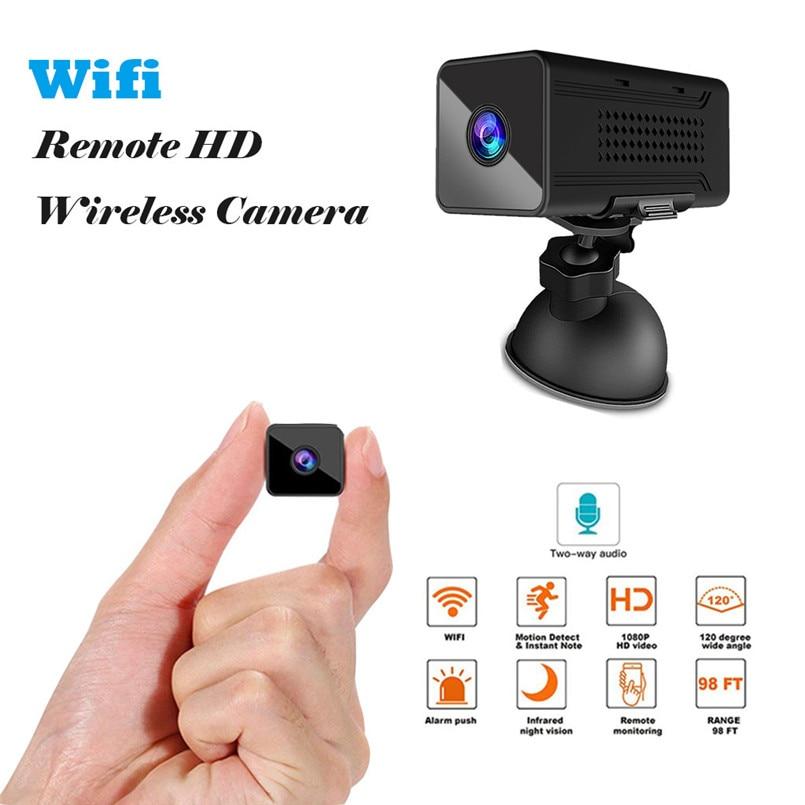 Ultra Larga Noche visión Mini Camera1920PX1080P HD Wifii remoto inalámbrico HD Cámara de la Cámara 130 grados de ángulo ancho Sensor CMOS 40AP25
