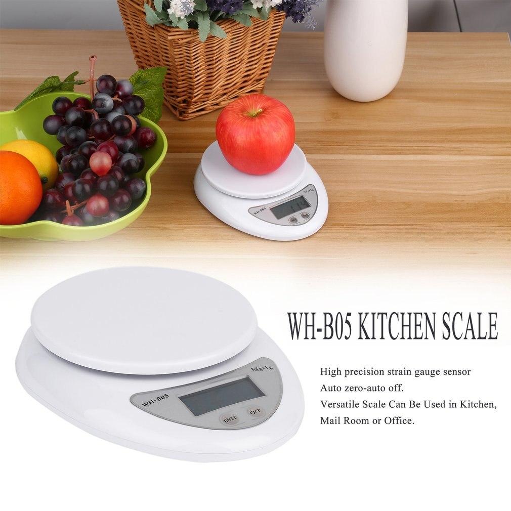 5000 г/1 г Цифровая кухонная пищевая диета Почтовые весы Электронный баланс веса Высокое качество Новинка