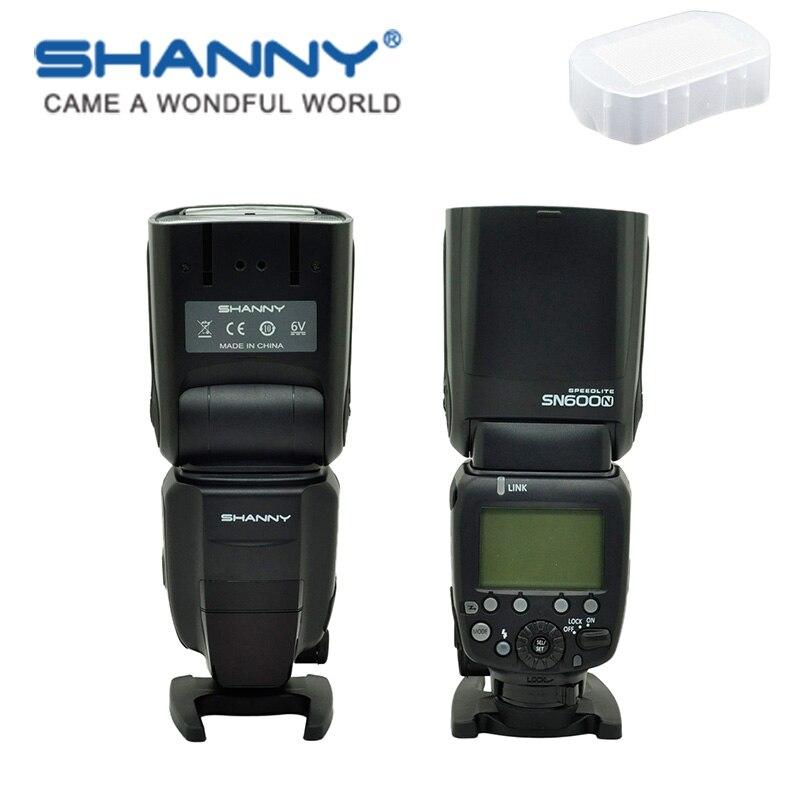 SHANNY SN600N en la Cámara speedlite flashgun flash para Nikon i-ttl/M/RPT de alta velocidad sync1/8000 s GN60