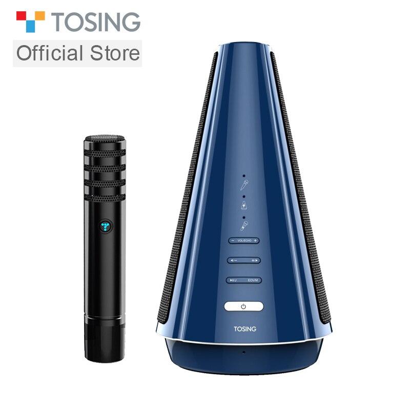 TOSING T08 micrófono inalámbrico de Karaoke Altavoz Bluetooth diseñado por separado Audio estéreo 3D 20W para reuniones y reuniones pequeñas