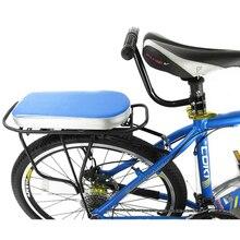 Enfants sécurité cyclisme ensemble vélo siège arrière coussin accoudoir arrière pieds pédales repose-pieds + vélo siège arrière + chaise accoudoir