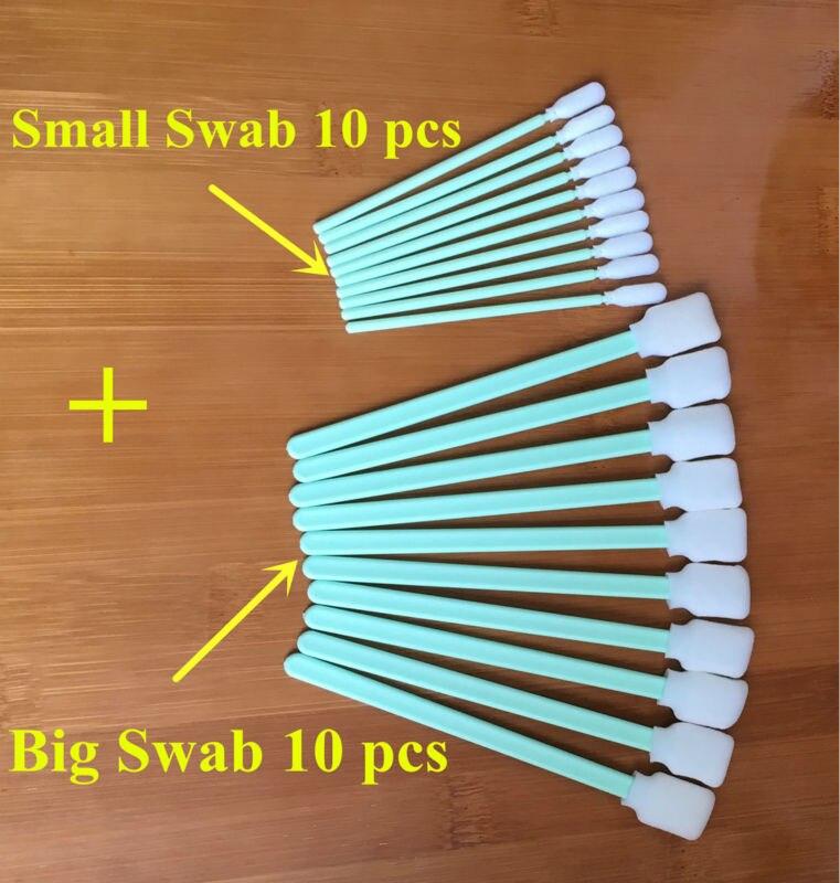 10 pcs Big Swab + 10 pcs Small foam sponge head cleaning buds sticks swabs for Printer Print head cleaning