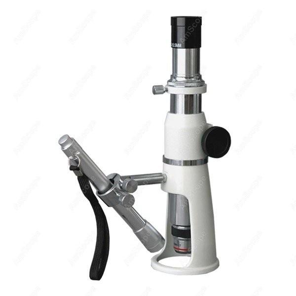 مجهر قياس-لوازم AmScope 100X حامل/متجر/مجهر قياس + قلم ضوء