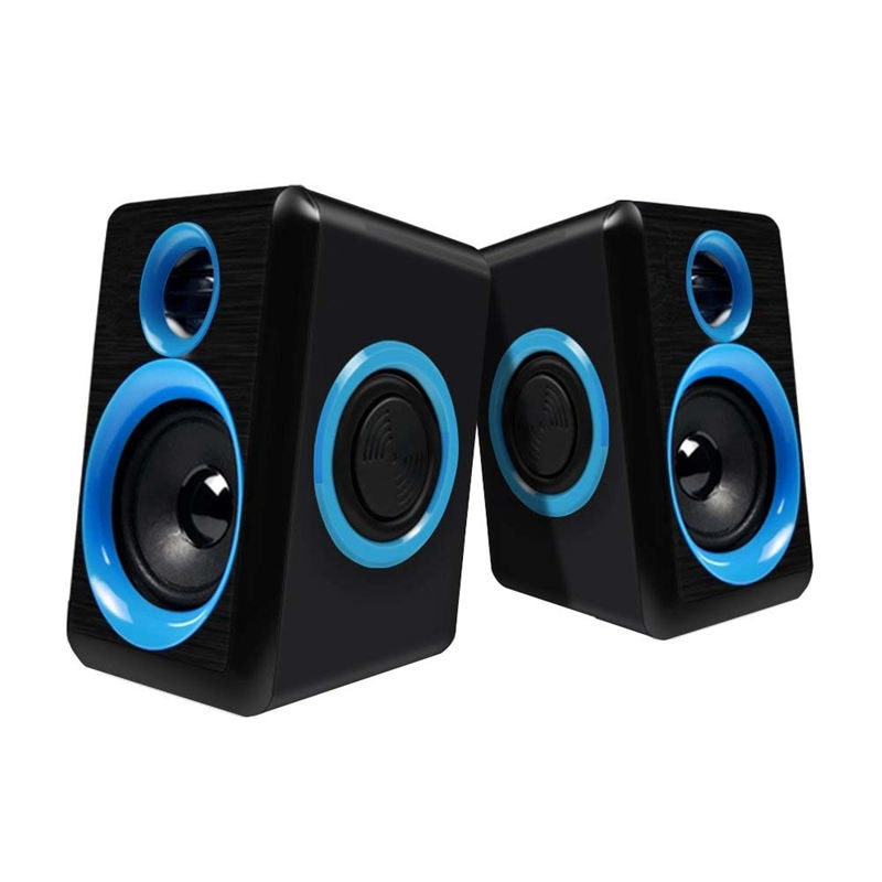 Surround Portable Computer Speakers With Stereo Bass Usb Wired Powered Multimedia Desktop Speaker For Pc Laptops
