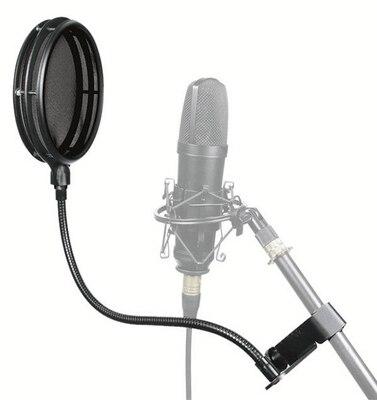 Alctron pf04 alta qualidade microfone pop filtro com duas camadas individuais profissional para gravação de estúdio