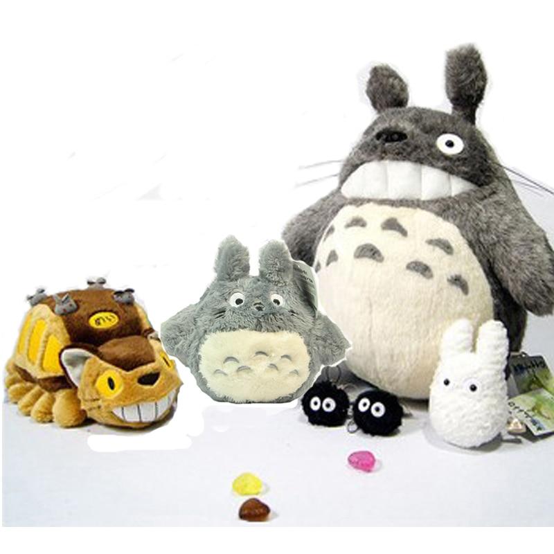 Плюшевые игрушки для детей 6 шт./компл. Catbus Totoro, высококачественные семьи My Neighbor Totoro