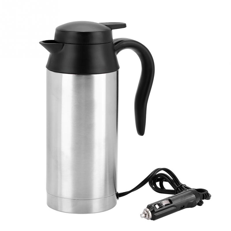 240W 750ml 24V Reise Auto Lkw Elektrische Wasserkocher Wasser Heizung Flasche für Tee Kaffee Trinken Edelstahl auto Wasser Heizung