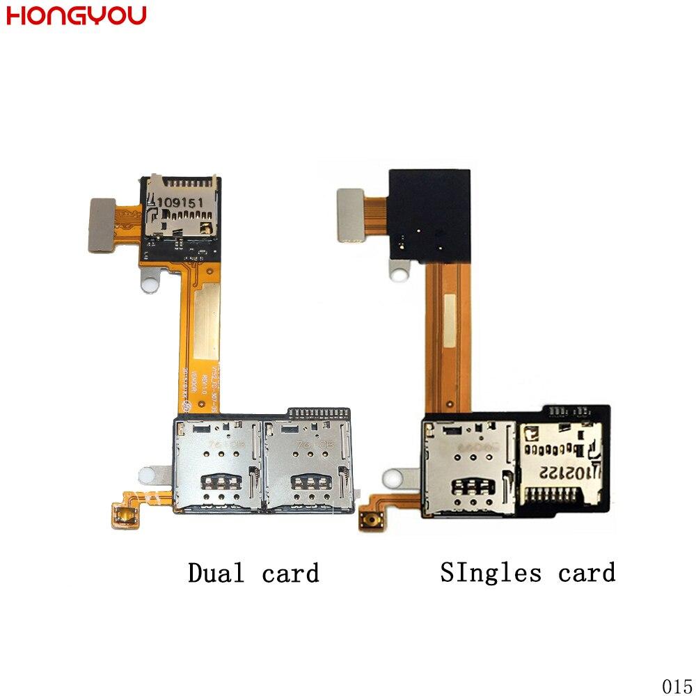 SIM Karte Slot Halter + TF Karte Slot Flex Kabel Für Sony Xperia M2 Aqua S50H S50T D2302 D2303 D2305 d2306 Sim Flex Kabel