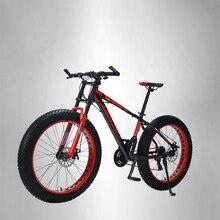 "LAUXJACK mountainbike aluminium rahmen 24 geschwindigkeit Shimano mechanische bremsen 26 ""x 4,0 räder lange gabel FatBike"