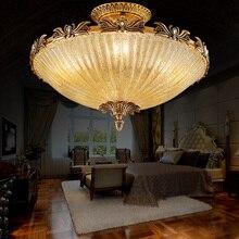 copper glass ceiling lamps restaurant Lamps lighting lamp light in the bedroom aesthetic character study ceiling light ZA919441