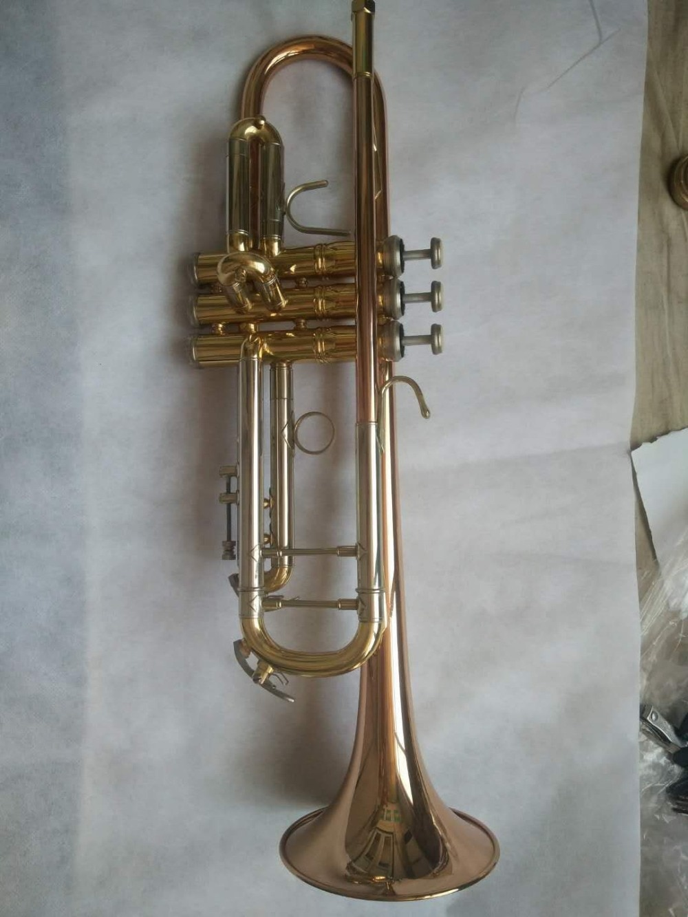 Custom Brand model Silver Plated and Phosphor Bronze Trumpet Brass Small Trumpet Instruments with 7C Mouthpiece enlarge
