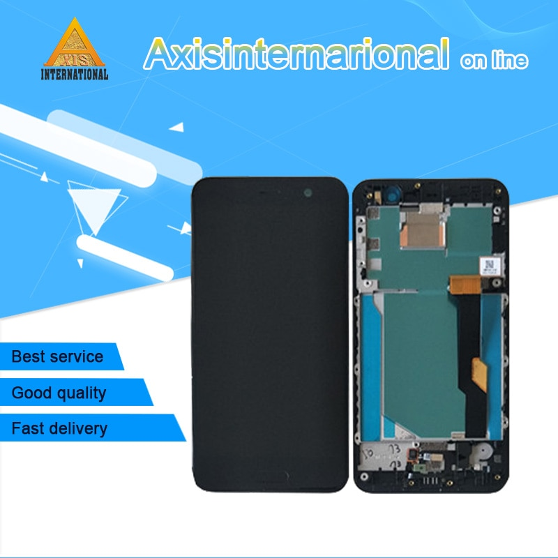 Axisinternational, pantalla LCD Original de 5,2 pulgadas para HTC U Play Uplay, pantalla + Digitalizador de Panel táctil con marco para HTC U Play Uplay