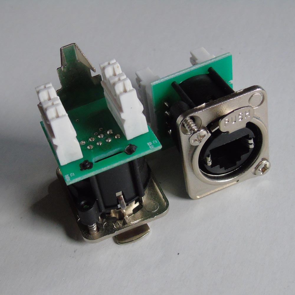 2 шт./лот NE8FDV-Y110 EtherCon Вертикальная IDC110 Панель Шасси Mnt D форма в никеле