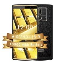 OUKITEL K7 Android 8,1 6,0 pulgadas pantalla 189 10000mAh 4GB RAM 64GB ROM 13MP + 5MP MT6750T carga rápida 4G huella dactilar teléfono móvil