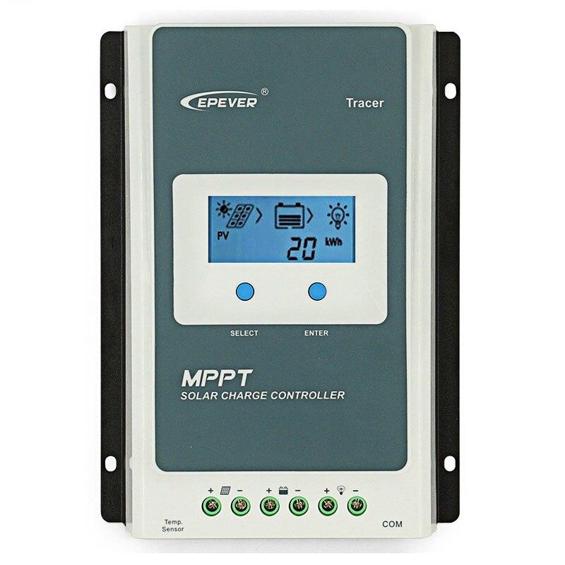 Controlador de carga Solar MPPT 30A/40A 12 V/24VDC AUTO 60V PV entrada LCD pantalla sellada Gel batería Límite de protección controlador