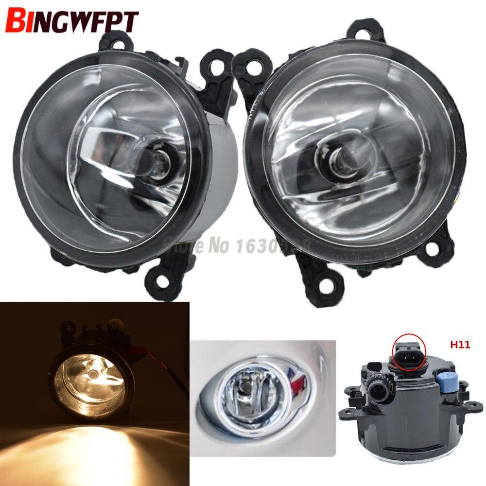 2 uds RH = LH luces antiniebla delanteras adecuadas para foco 2 3 2009-2014 Fiesta/Peugeot/Chevrolet/Swift/Autoart/Renault