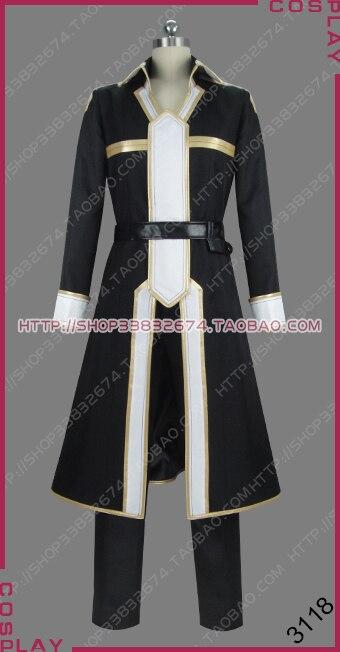 Espada arte online alicização lycoris submundo kirigaya kazuto kirito uniforme jogo de roupa cosplay traje s002