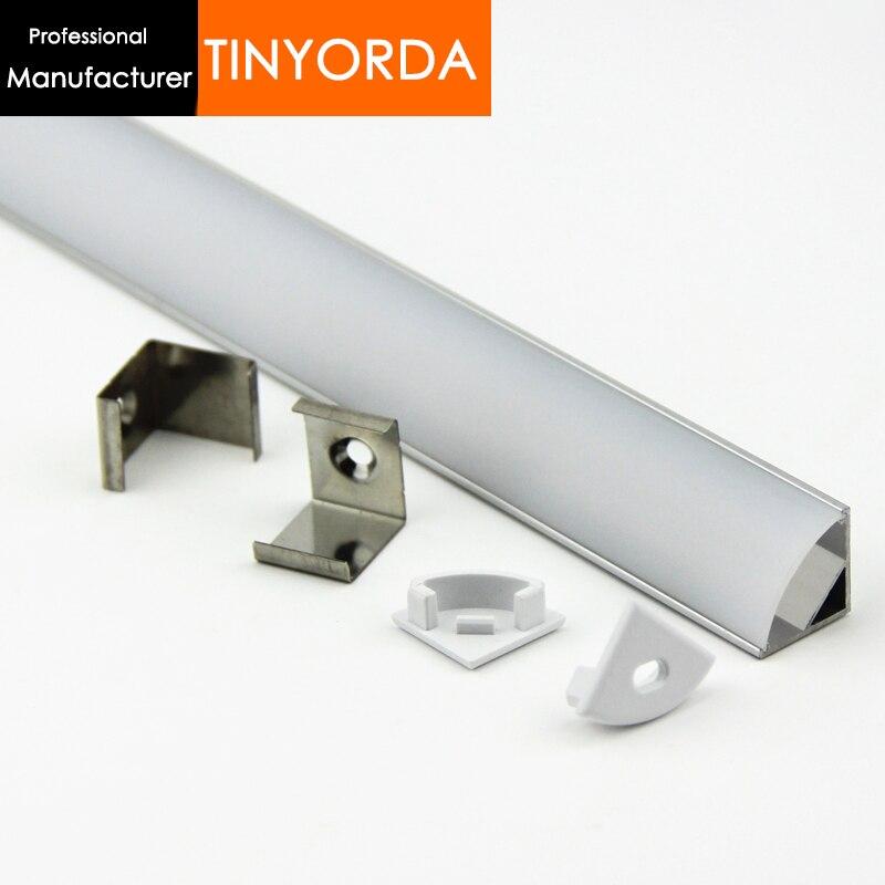 Tinyorda 1000Pcs (1M Length) Led Channel Led Profile Housing for 11mm LED Strip Light [Professional Manufacturer]TAP1616