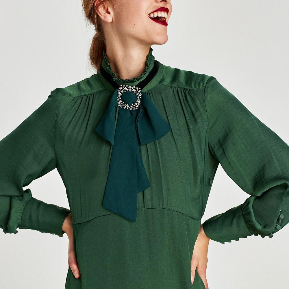 New Fancy Fashion Long Chiffon Fabric Bow Ties For Women Party Dress Shirt Neck Tie Fake Collar Kraagjes Dames Nep Kraag