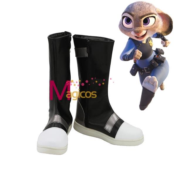 2016 Hot Movie Zootopia Judy hops Cosplay Party Shoes botas talla hecha a medida