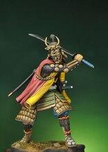 Unassambled 1/24 75Mm Samurai Warrior 1590 Winter 75Mm Figuur Historische Resin Kit Miniatuur Model Unpainted