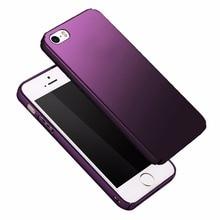 Étui pour iPhone mat 5 étuis de luxe mince coque rigide funda pour iPhone 5 s iPhone se étui PC couverture arrière pour iPhone 5se coques de téléphone