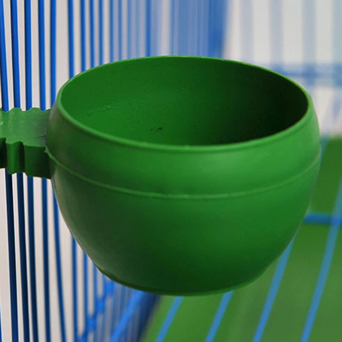 Клетка для попугаев, пластиковая круглая кормушка для воды и корма, миска для кормления высокого качества