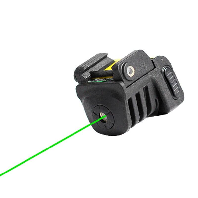 Transporte da gota laserspeed ajustável auto defesa tático mini trilho montado pistola verde visando recarregável laser vista