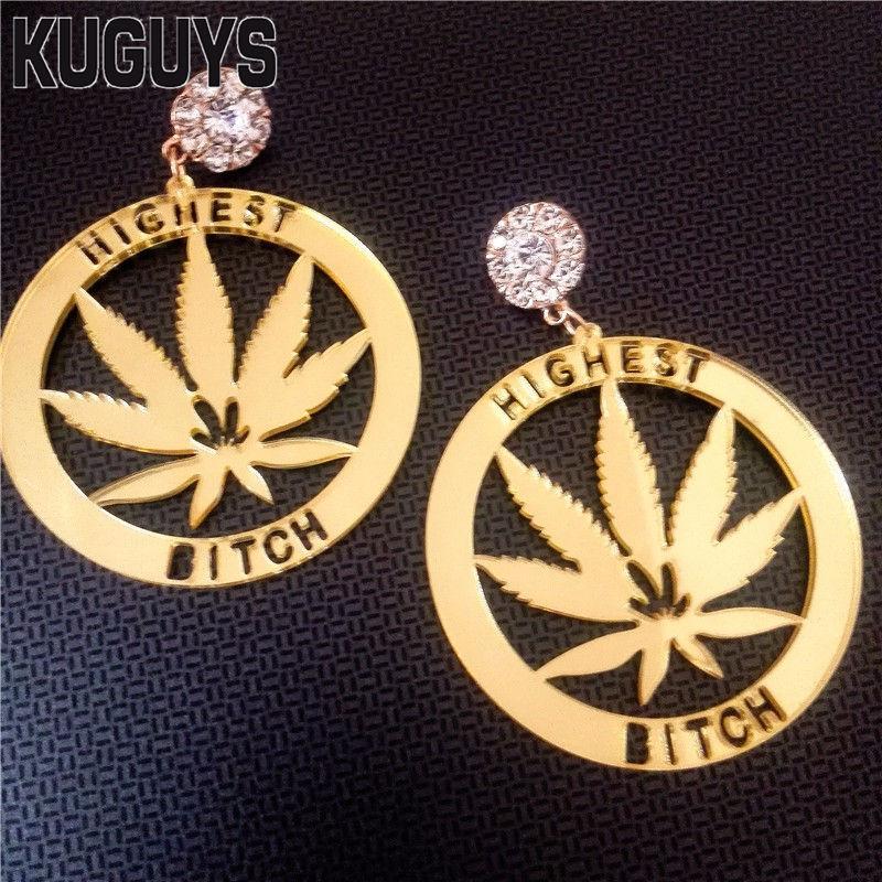 Kuguys jóias para mulheres brincos ouro acrílico brincos redondos moda oorbellen mais alta cadela hiphop balançar brinco pendientes