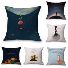 Raposa le petit príncipe pescoço corpo fronha de linho cama viagem travesseiros capa de assento almofada lance travesseiro decoração casa presente