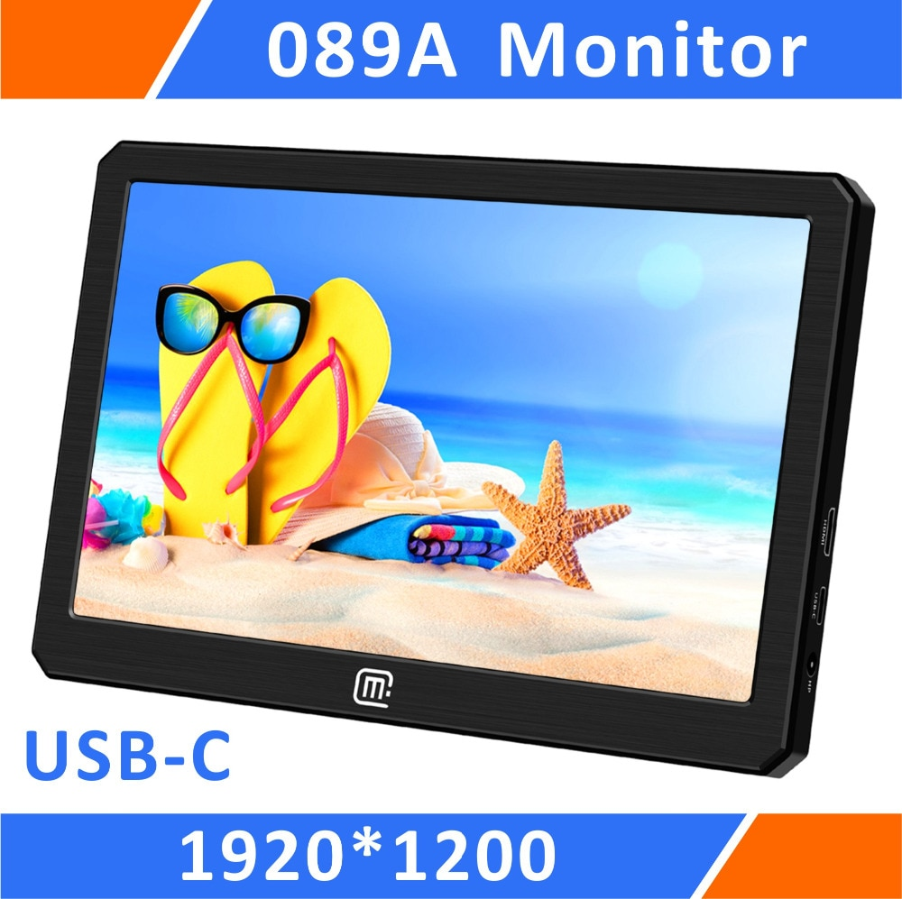 Portable HDR Gaming Monitor-8.9 Inch 1920*1200 IPS QHD LCD Display USB Powered for Xbox,PS4,PS3,Raspberry Pi And  Mini PC(089A) 13 3 inch portable computer monitor pc 2k 2560x1440 hdmi ps3 ps4 xbo x360 ips lcd led display for raspberry pi wins 7 8 10 case