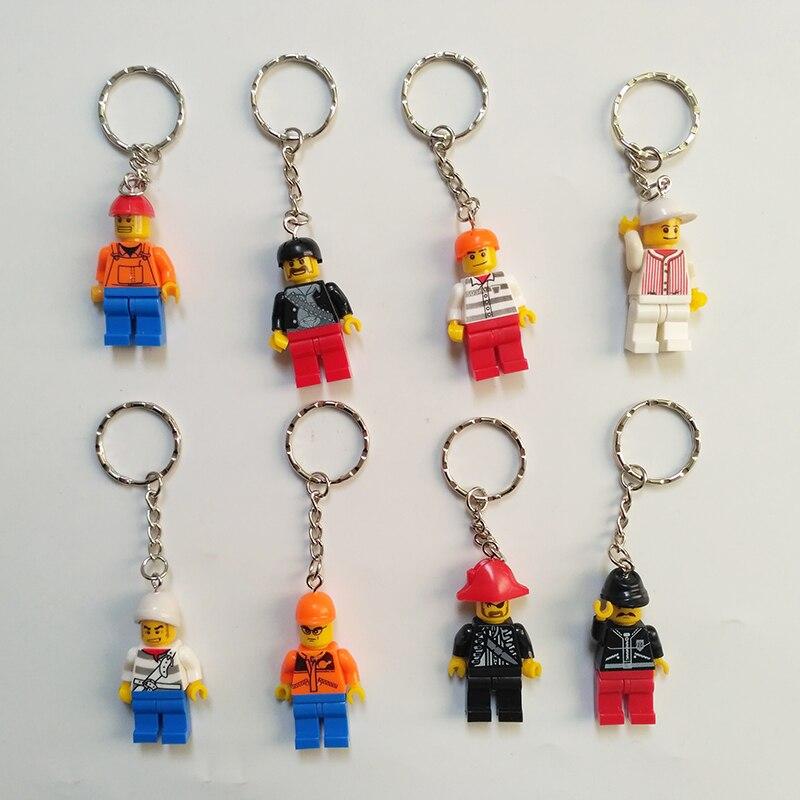 12 pçs bonito bloco de construção chaveiro mini pingente decoração requintado brinquedos educativos figura ação dos desenhos animados para o presente das crianças