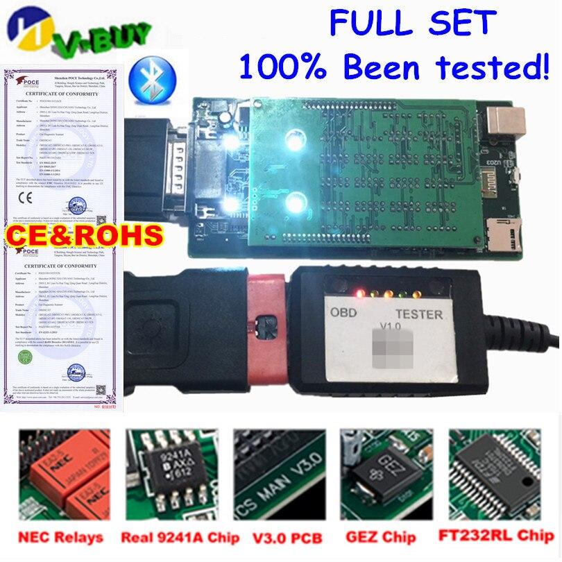 100% probado. OBDIICAT TCS PRO Red NEC 2015,3 2016,00 Software Bluetooth v3.0 PCB Auto escáner herramienta de diagnóstico para coche camión