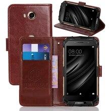 Классический чехол-бумажник GUCOON Для Doogee S40 S60 Lite из искусственной кожи Винтажный чехол с откидной крышкой Магнитный модные телефонные шкафы