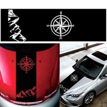 Compass Mountain Decal Hood Graphic Vinyl Car Sticker For Toyota Hilux Revo Vigo Pickup Off Road
