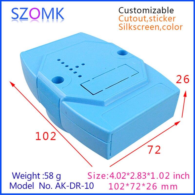 Gabinete eléctrico szomk, caja de riel din (1 Uds.), caja electrónica de instrumentos de 102*72*26mm, carcasa de empalme de plástico abs