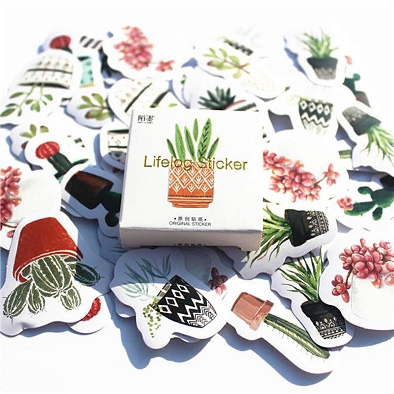 45 unids/pack Oasis del desierto Memo papelería Paquete de pegatinas publicado Kawaii planificador Scrapbooking etiqueta Escolar de la escuela suministros