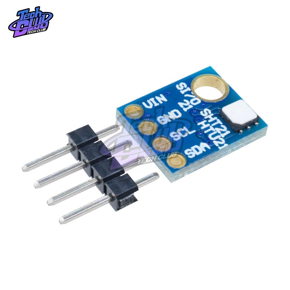 GY-21 humedad Sensor con I2C interfaz IIC Si7021 Industrial de alta precisión Módulo Sensor de temperatura CMOS de baja potencia de 3-5V