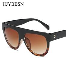 2019 Fashion Sunglasses Women Flat Top Style Brand Design Vintage Sun glasses Female Rivet Shades su