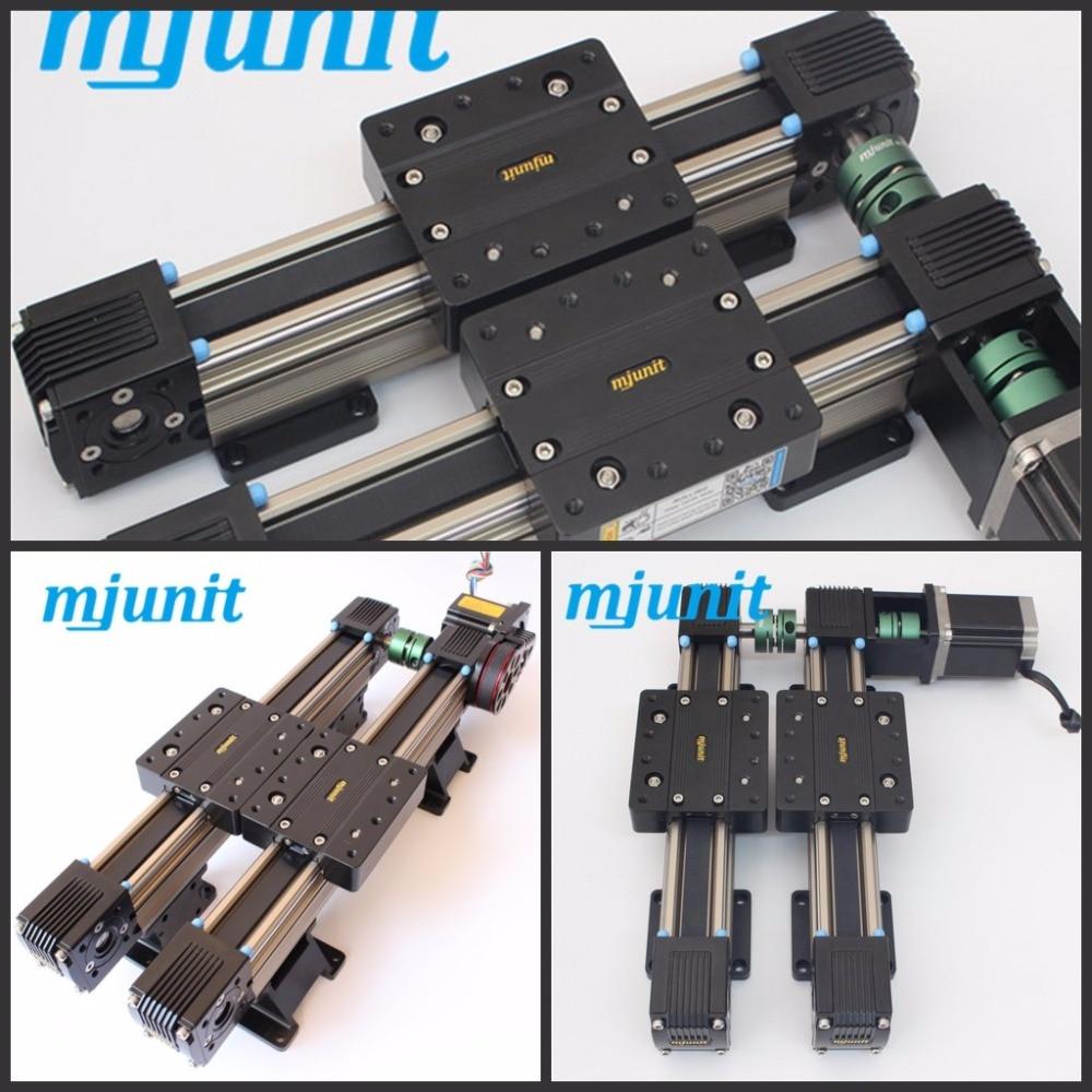 MJUNIT MJ45 belt drive linear motions system 3-axis wood cnc router & 3d foam cutting machine linear guide rail