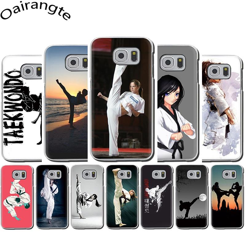 Deporte de taekwondo de la caja del teléfono duro para Samsung S6 S7 borde S8 S9 S10 más S10e Nota 8 9 10 M10 M20 M30 M40