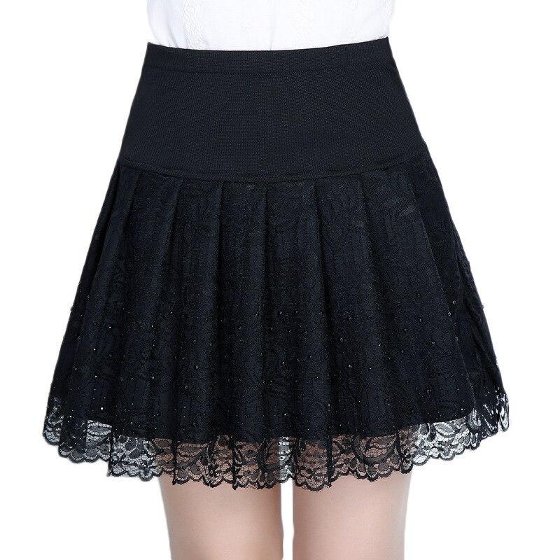 Minifalda plisada larga de estilo gótico, negra, plisada para verano y calle, Bohemia, sexy, de talla grande, rokjes, plisada, para mujer, para oficina, 2019