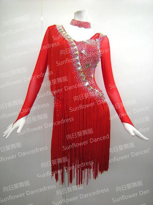 فستان رقص لاتيني للبنات ، فستان رومبا سامبا ، ملابس سالسا ، ملابس مسرح ، فستان رقص عباد الشمس