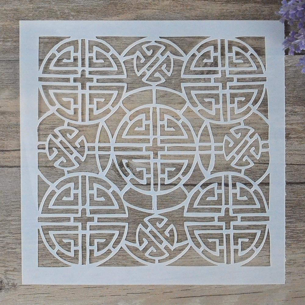Stencils Para Paredes Pintura Scrapbooking DIY Craft Camadas Stamping Selos Album Decorativa Papel Embossing Cartões 6 polegada